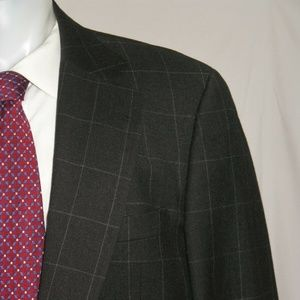 Paul Stuart Flannel Weight Two Button Hacking Suit
